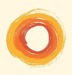 Round grunge design vector image