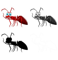 set ant character vector image