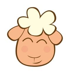 Sheep cute character little vector