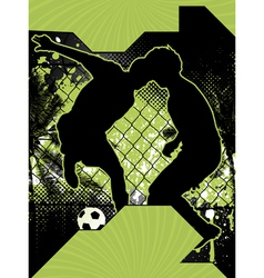 soccer grunge poster vector image vector image