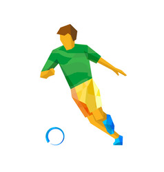soccer player isolated on white vector image
