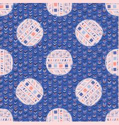 striped polka dot circle seamless pattern vector image