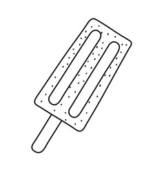 summer popsicle fronz dessert cartoon isolated in vector image