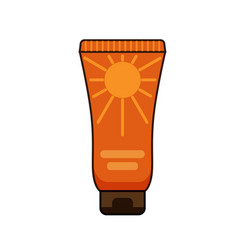 sun protection cream tube summer vector image