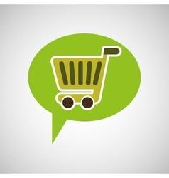 symbol recycle cart buy design vector image