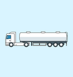 Tanker truck icon fuel or water lorry vector