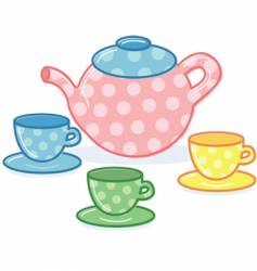 tea pot vector image