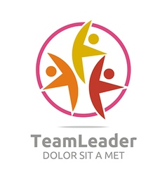 Teamleader guidance human colorful design vector