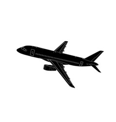 technical draw of modern russian airliner vector image