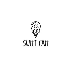 template icon sweet food vector image