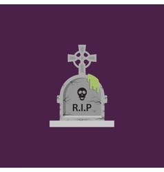 Tombstone for halloween in a flat style vector