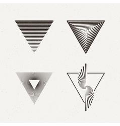 Triangles set Geometric vector