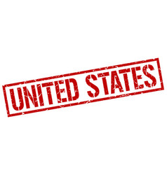 United states red square stamp vector