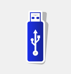 usb flash drive sign new year vector image