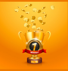 winner cup number one vector image