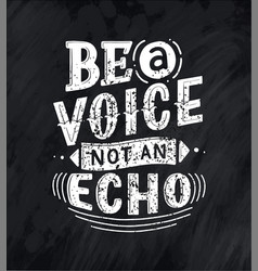your voice matters quote lettering calligraphy vector image