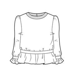 blouse for women vector image