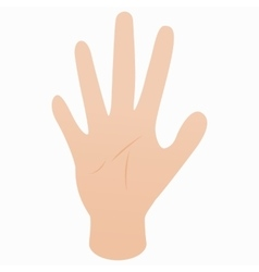 Five fingers of hand icon isometric 3d style vector image vector image