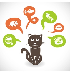funny cartoon cat vector image vector image