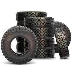 Old Truck Tire Set 2 vector image vector image