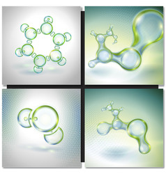 Set of Abstract molecules vector image