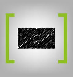 soccer field black scribble icon in vector image