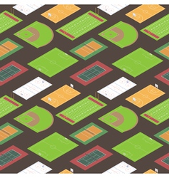 Sport fields seamless pattern vector image vector image