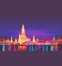 thailand travel around vector image