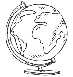 Globe doodle vector image