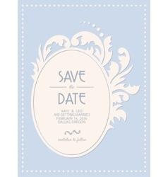 Vintage wedding invitation card with floral frame vector image