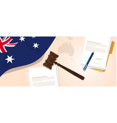australia law constitution legal judgment justice vector image