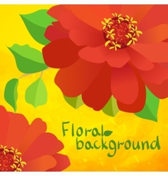 border background with flowers vector image vector image