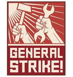 general strike poster vector image vector image