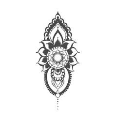 henna mehndi vector image