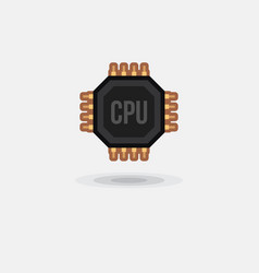 icon processor gpu cpu isolated vector image vector image