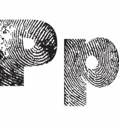 letter p vector image vector image