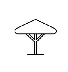 street umbrella icon vector image
