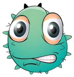 A face of a monster vector image