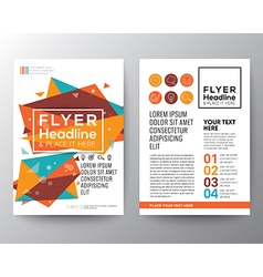 Abstract Triangle shape Flyer design vector image