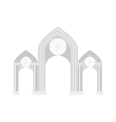 Arch icon isolated vector image vector image