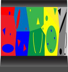 Artificial rock vector image