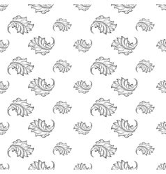 Baroque damask seamless pattern vector image vector image