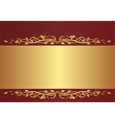 burgundy and gold background vector image