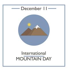 Mountain Day vector image