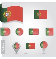 Portugal flag icon vector image