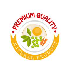 premium quality natural product logo template vector image
