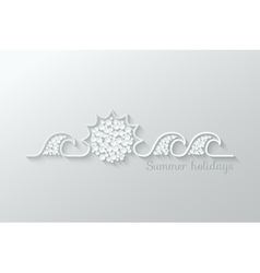 summer holidays paper cut design background vector image vector image