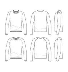 templates of blank tee vector image vector image