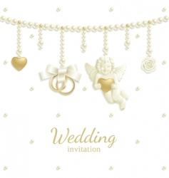 wedding jewel vector image