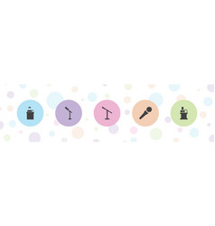 5 audience icons vector